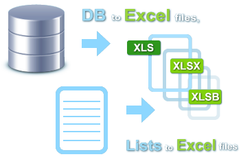 Export list to Excel file: XLS, XLSX, XLSB spreadsheets