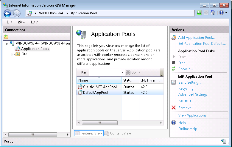Start, Stop and Restart IIS from a Remote PC